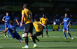 Liam Sercombe of Bristol Rovers has a shot blocked by Luke O'Neill of AFC Wimbledon - Mandatory by-line: Arron Gent/JMP - 21/09/2019 - FOOTBALL - Cherry Red Records Stadium - Kingston upon Thames, England - AFC Wimbledon v Bristol Rovers - Sky Bet League One