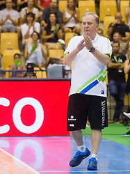 Bozidar Maljkovic, head coach of Slovenia during friendly match between National teams of Slovenia and Serbia for Eurobasket 2013 on August 3, 2013 in Arena Zlatorog, Celje, Slovenia. Slovenia derated Serbia 67-52. (Photo by Vid Ponikvar / Sportida.com)