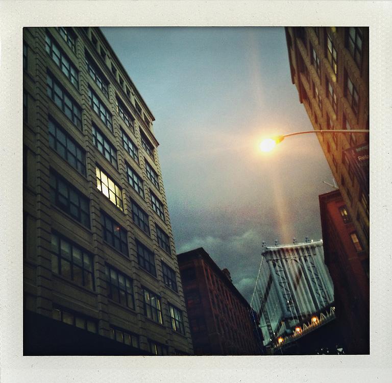 Dumbo, Brooklyn, New York, night...From the series Fake Polaroids.http://www.stefanfalke.com/.