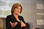 Denise M. Morrison, President and CEO of Campbell Soup Company at the The Wall Street Journal 2016 GLOBAL FOOD FORUM in New York City on October 6, 2016. (photo by Gabe Palacio)