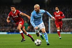 David Silva of Manchester City attacks - Mandatory by-line: Matt McNulty/JMP - 10/04/2018 - FOOTBALL - Etihad Stadium - Manchester, England - Manchester City v Liverpool - UEFA Champions League Quarter Final Second Leg