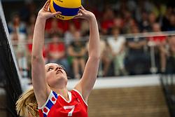 21-04-2019 NED: VC Sneek - Sliedrecht Sport, Sneek<br /> Final Round 2 of 5 Eredivisie volleyball - Sliedrecht Sport win 3-0 / Chanel Baas #7 of VC Sneek