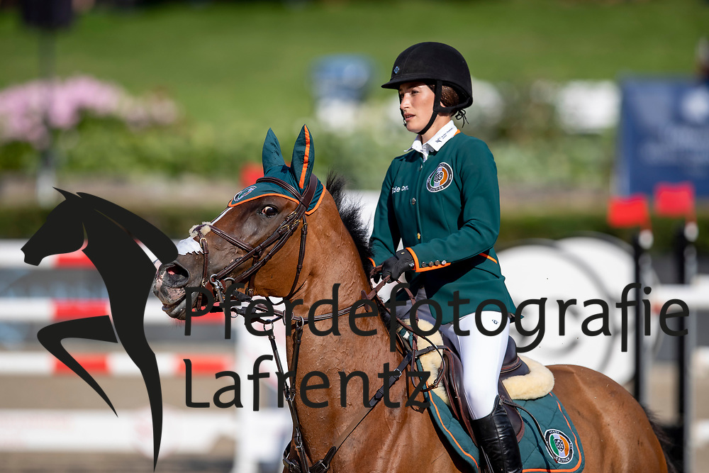 SPRINGSTEEN Jessica (USA), RMF Swinny du Parc<br /> Berlin - Global Jumping Berling 2018<br /> CSI5* Preis der Deutsche Vermögensberatung<br /> 1. Wertung für Global Champions League<br /> 27. Juli 2018<br /> © www.sportfotos-lafrentz.de/Stefan Lafrentz