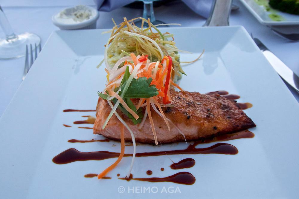 Grand Cayman. The Wharf restaurant.