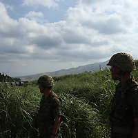 August 27,2017,   Mont  Fuji annual military drill,  radio defence officers attends  Japan annual  ground  sellf defense drill. Pierre Boutier