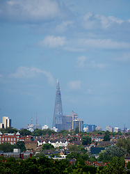 LONDON, ENGLAND - Saturday, June 30, 2012: The Shard skyscraper as seen from Wimbledon during the Mixed Doubles 2nd Round match on day five of the Wimbledon Lawn Tennis Championships at the All England Lawn Tennis and Croquet Club. (Pic by David Rawcliffe/Propaganda)