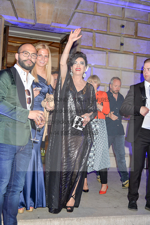 Right, NANCY DELL'OLIO at the Royal Academy of Arts Summer Exhibition Preview Party at The Royal Academy of Arts, Burlington House, Piccadilly, London on 7th June 2016.