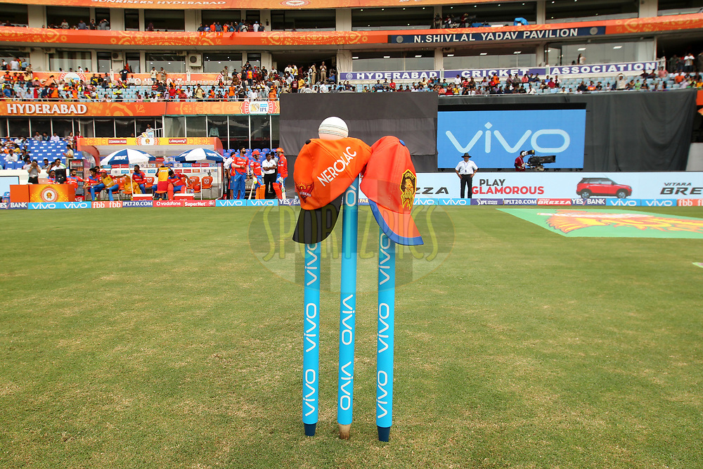 During match 6 of the Vivo 2017 Indian Premier League between the Sunrisers Hyderabad and the Gujarat Lions held at the Rajiv Gandhi International Cricket Stadium in Hyderabad, India on the 9th April 2017Photo by Prashant Bhoot - IPL - Sportzpics