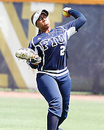 Ashley McClain makes a play during the game against rival Troy.