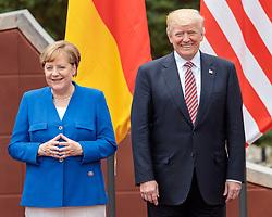 26.05.2017, Taormina, ITA, 43. G7 Gipfel in Taormina, im Bild v.l. Deutschlands Bundeskanzlerin Angela Merkel, US Präsident Donald Trump // f.l. German Chancellor Angela Merkel US President Donald Trump during the 43rd G7 summit in Taormina, Italy on 2017/05/26. EXPA Pictures © 2017, PhotoCredit: EXPA/ Johann Groder
