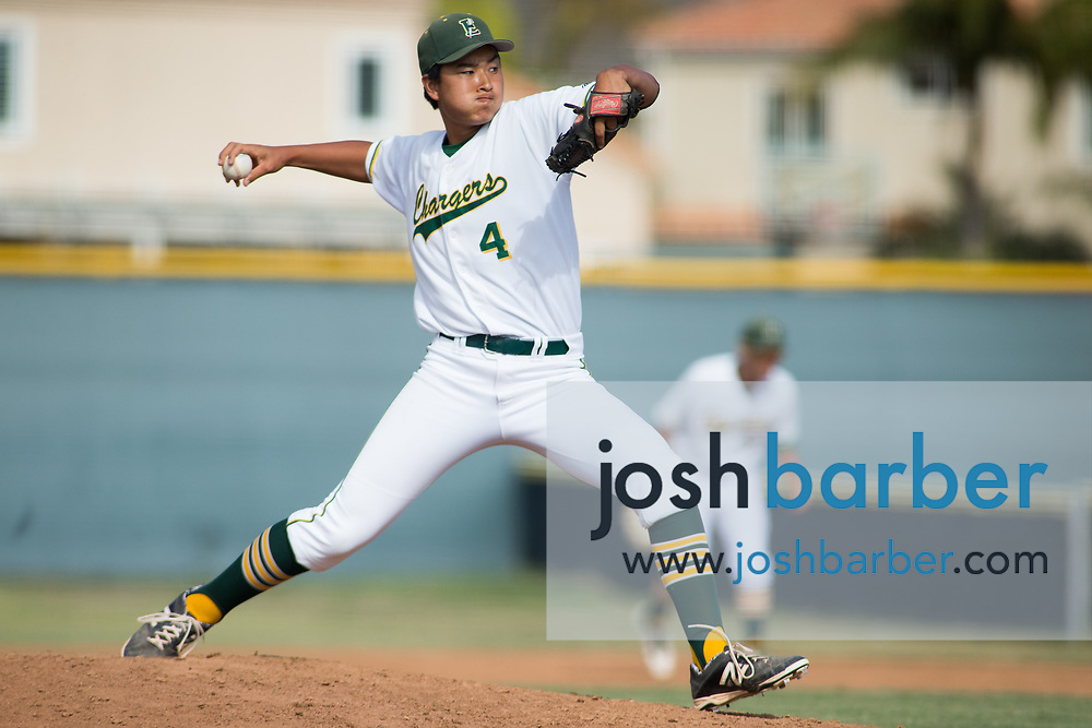 Edison's Jared Sasaki during the CIF-SS Division 2 Quarterfinal: Palm Desert v Edison at Edison High School on Friday, May 26, 2017 in Huntington Beach, Calif. (Photo by Josh Barber, Contributing Photographer)