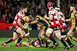 Mitch Eadie of Bristol Rugby in action - Rogan Thomson/JMP - 03/12/2016 - RUGBY UNION - Kingsholm Stadium - Gloucester, England - Gloucester Rugby v Bristol Rugby - Aviva Premiership.