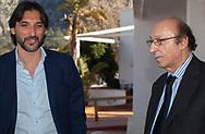 Dario Baccin, responsabile del settore giovanile del Palermo, insieme a Luciano Moggi.