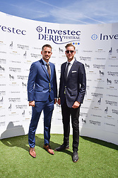 Stuart Broad and Brendan McCullum at The Investec Derby, Epsom, Surrey England. 3 June 2017.<br /> Photo by Dominic O'Neill/SilverHub 0203 174 1069 sales@silverhubmedia.com