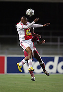 Franklin Cale and Phaladi Kobola during the PSL match between Ajax Cape Town and Moroka Swallows held at Newlands Stadium in Cape Town, South Africa on 28 October 2009..Photo by Ron Gaunt/SPORTZPICS