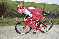 March 23, 2018 - Harelbeke, BELGIUM - German Tony Martin of Katusha-Alpecin pictured in action during the 61st edition of the 'E3 Prijs Vlaanderen Harelbeke' cycling race, 206,5 km from and to Harelbeke, Friday 23 March 2018...BELGA PHOTO DIRK WAEM (Credit Image: © Dirk Waem/Belga via ZUMA Press)
