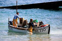 UK CORNWALL SENNEN COVE 10JUN08 -  Handline fishing boat returns to Sennen Cove in Cornwall, western England...jre/Photo by Jiri Rezac / WWF UK..© Jiri Rezac 2008..Contact: +44 (0) 7050 110 417.Mobile:  +44 (0) 7801 337 683.Office:  +44 (0) 20 8968 9635..Email:   jiri@jirirezac.com.Web:    www.jirirezac.com..© All images Jiri Rezac 2008 - All rights reserved.