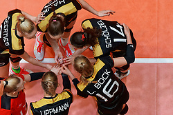 11–01-2020 NED: Semi Final Olympic qualification tournament women Germany - Netherlands, Apeldoorn<br /> First semi final match Germany - Netherlands 3-0 / Team Germany, hands