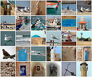 30 image collage of Jaffa, Israel