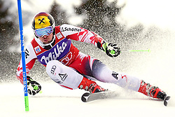 10.01.2015, Adelboden, SUI, FIS Weltcup Ski Alpin, Adelboden, Riesentorlauf, Herren, 2. Durchgang, im Bild Marcel Hirscher (AUT, 1. Platz) // first placed Marcel Hirscher (AUT) in action during 2nd run of of Men Giant Slalom of FIS Ski Alpine World Cup in Adelboden, Switzerland on 2015/01/10. EXPA Pictures © 2015, PhotoCredit: EXPA/ Freshfocus/ Urs Lindt<br /> <br /> *****ATTENTION - for AUT, SLO, CRO, SRB, BIH, MAZ only*****