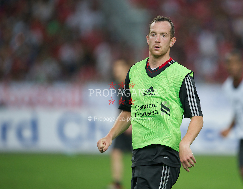 KUALA LUMPUR, MALAYSIA - Thursday, July 14, 2011: Liverpool's new signing Charlie Adam during a training session at the National Stadium Bukit Jalil in Kuala Lumpur ahead of their second pre-season friendly match on day four of the club's Asia Tour. (Photo by David Rawcliffe/Propaganda)
