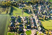 Nederland, Groningen, Gemeente Ten Boer, 04-11-2018; Thesinge en omgeving, door aardbevingen getroffen gebied, bevingen die het gevolg zijn van de winning van aardgas.<br /> Thesinge and its surroundings, earthquake-affected area. The earthquakes that are the result of the extraction of natural gas.<br /> <br /> luchtfoto (toeslag op standaard tarieven);<br /> aerial photo (additional fee required);<br /> copyright© foto/photo Siebe Swart