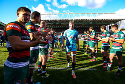 Ted Hill of Worcester Warriors walks through a guard of honour of Leicester Tigers after scoring the winning try - Mandatory by-line: Robbie Stephenson/JMP - 23/09/2018 - RUGBY - Welford Road Stadium - Leicester, England - Leicester Tigers v Worcester Warriors - Gallagher Premiership