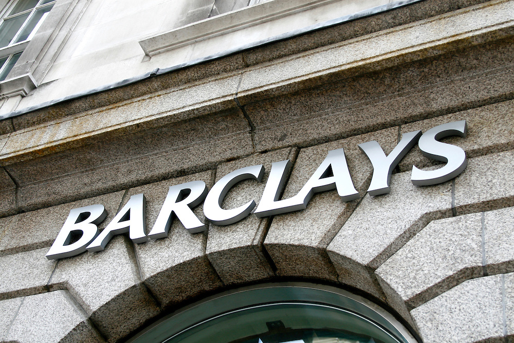 Barclays Bank logo / sign