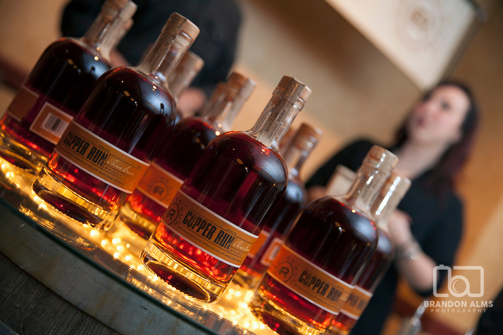 A collection of Copper Run Whiskey at 417 Magazine's 2015 Whiskey Fest.