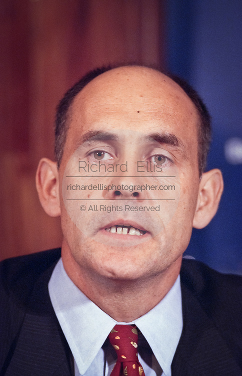 Michael Cowpland, CEO of Corel Corporation attends a press conference by the Business Software Alliance June 16, 1999 in Washington, DC.