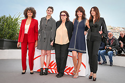 """Souad Amidou, Tess Lauvergne, Anouk Aimee, Marianne Denicourt and Monica Bellucci attend the photocall for """"The Best Years of a Life (Les Plus Belles Annees D'Une Vie)"""" during the 72nd annual Cannes Film Festival on May 19, 2019 in Cannes, France. Photo by ShootPix/ABACAPRESS.COM"""