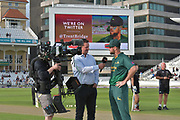 Dan Christian at the toss before the NatWest T20 Blast Quarter Final match between Notts Outlaws and Somerset County Cricket Club at Trent Bridge, West Bridgford, United Kingdom on 24 August 2017. Photo by Simon Trafford.