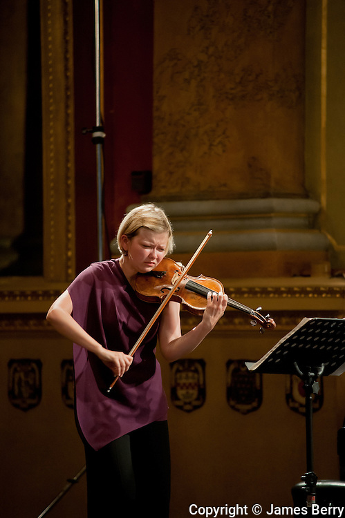 Alina Ibragimova performing live at Goldsmiths Hall on 9 July for the City of London Festival 2013