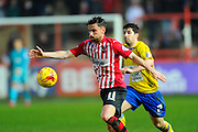 Exeter City's Arron Davies during the Sky Bet League 2 match between Exeter City and Accrington Stanley at St James' Park, Exeter, England on 23 January 2016. Photo by Graham Hunt.