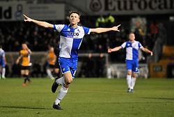 Bristol Rovers' Ollie Clarke celebrates his goal. - Photo mandatory by-line: Dougie Allward/JMP - Mobile: 07966 386802 - 19/12/2014 - SPORT - football - Bristol - Memorial Stadium - Bristol Rovers v Gateshead  - Vanarama Conference