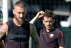 July 19, 2018 - Rome, Italy - Alessandro Florenzi during training session open to the fans of A.S. Roma,  pre-season retreat at Stadio Tre Fontane on july 19, 2018 in Rome, Italy. (Credit Image: © Silvia Lore/NurPhoto via ZUMA Press)