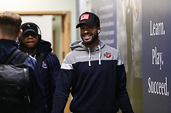 Lewis Champion of Bristol Flyers arriving at the arena - Photo mandatory by-line: Arron Gent/JMP - 07/12/2019 - BASKETBALL - Surrey Sports Park - Guildford, England - Surrey Scorchers v Bristol Flyers - British Basketball League Championship