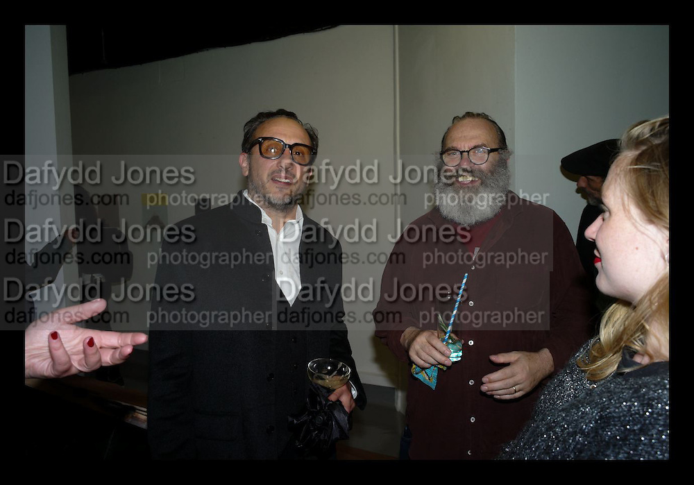 JOE LA PLACA; MATTHEW  COLLINGS, The Future Can wAit and Sensations 2014 exhibition , Victoria House, Bloomsbury. London. 13 October 2014.