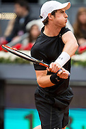 Andy Murray during the final of the Madrid Open at Manzanares Park Tennis Centre, Madrid<br /> Picture by EXPA Pictures/Focus Images Ltd 07814482222<br /> 08/05/2016<br /> ***UK &amp; IRELAND ONLY***<br /> EXPA-ESP-160509-0098.jpg