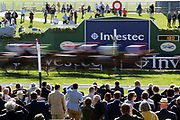 The horses run by the Winning Post on the first circuit of The Investec Wealth Handicap Stakes over 2m (£20,000)  during the second day of the Dante Festival at York Racecourse, York, United Kingdom on 16 May 2019.