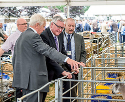 Cabinet Minister forthe Rural Economy Fergus Ewing MSP visits the Royal Highland Show at Ingliston near Edinburgh.<br /> <br /> © Dave Johnston/ EEm