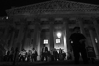 WASHINGTON, DC - SEPTEMBER 28:  House lawmakers run down the east front steps after passing their Continuing Resolution spending bill, the measure includes an amendment to delay the Affordable Care Act for one year, yet funds the government through December 15th, late Saturday night  on Capitol Hill Saturday September 28, 2013. (Photo by Melina Mara/The Washington Post)