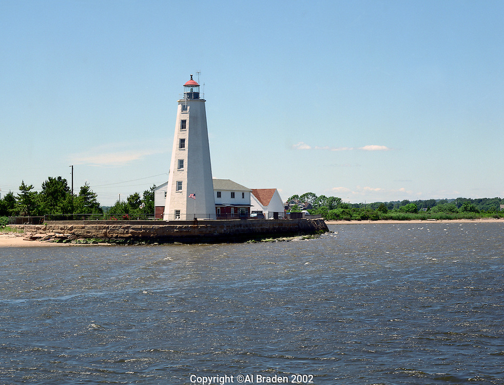 Lynde Point Light marks the inner harbor at the mouth of the Connecticut River, Old Saybrook,CT