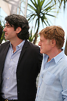 Actor Robert Redford and director J.C Chandor at the All Is Lost film photocall Cannes Film Festival on Wednesday 22nd May 2013
