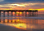Isle of Palms pier sunrise.