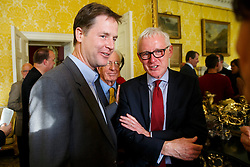 © Licensed to London News Pictures. 10/10/2014. LONDON, UK. Norman Lamb, Minister of State for Care and Support attending to Deputy Prime Minister Nick Clegg's reception for World Mental Health day on Friday, 10 October 2014 at Admiralty House in central London. Photo credit : Tolga Akmen/LNP