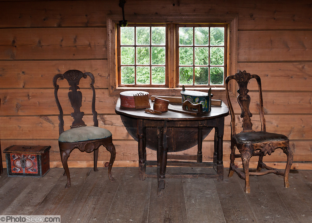 Explore rooms portraying lifestyles from hundreds of years ago at the Hardanger Folk Museum in Utne, Norway.