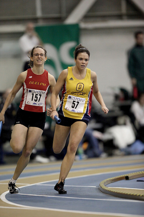 Windsor, Ontario ---13/03/09--- Pauliina Beretta of  Queen's University competes in the 4x200m Prelims at the CIS track and field championships in Windsor, Ontario, March 13, 2009..Sean Burges Mundo Sport Images