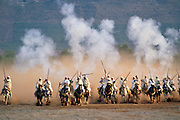 Horse fantasia in the desert, Morocco. RESERVED USE - NOT FOR DOWNLOAD -  FOR USE CONTACT TIM GRAHAM