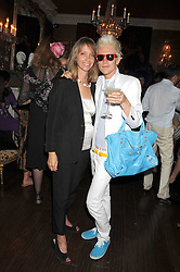 SABRINA GUINNESS and GRAHAM REBAK MD of Beach Blanket Babylon at a party hosted by the Supper Club in honour of Mary Greenwell held at Beach Blanket Babylon, Ledbury Road, London on 25th June 2008.<br /><br />NON EXCLUSIVE - WORLD RIGHTS
